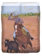 Getting Ready For Rodeo Duvet Cover
