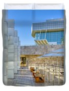 Getty Center Tram Waiting Area Brentwood  Ca Duvet Cover