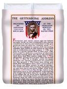 Gettysburg Address By Abraham Lincoln  Duvet Cover