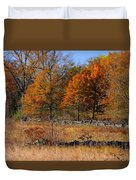 Gettysburg At Rest - Autumn Looking Towards The J. Weikert Farm Duvet Cover