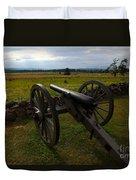 Gettysburg Battlefield Historic Monument Duvet Cover by James Brunker