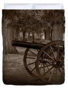 Gettysburg Cannon B W Duvet Cover