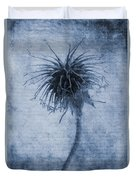 Geum Urbanum Cyanotype Duvet Cover
