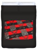 Ghana In Red And Black Duvet Cover
