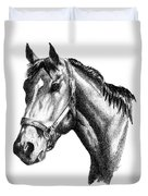 Ghazibella Thoroughbred Racehorse Filly Duvet Cover