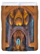 Ghost In The Cathedral Duvet Cover by Adrian Evans