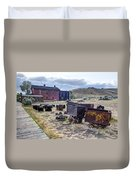 Ghost Mining Town Of Montana Duvet Cover