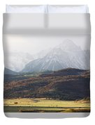 Ghost Mountains Duvet Cover