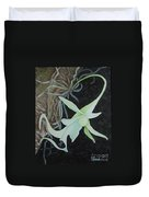 Ghost Orchid On A Palm Tree Duvet Cover