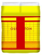 Ghost Station In Red And Yellow Duvet Cover