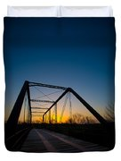 Ghost Town Bridge Duvet Cover