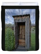 Ghost Town Outhouse - Montana Duvet Cover
