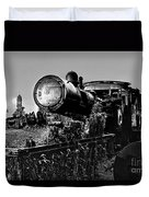 Ghost Train In Paranapiacaba - Locobreque Duvet Cover
