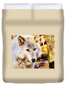 Ghost Wolf Duvet Cover