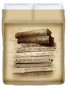 Ghost Writer Duvet Cover