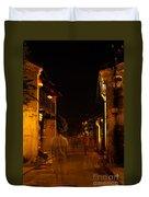 Ghostly Street Duvet Cover