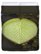 Giant Amazonian Water Lily Pads Closeup Duvet Cover