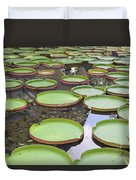 Giant Amazonian Water Lily Pads Duvet Cover