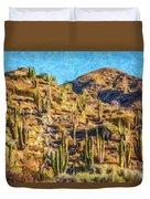 Giant Cordon Cactus Duvet Cover