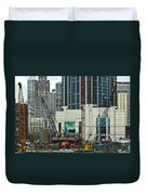 Downtown Chicago High Rise Construction Site Duvet Cover