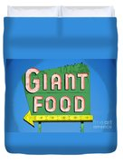 Giant Food Duvet Cover