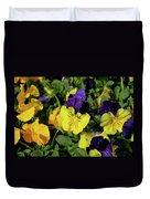 Giant Garden Pansies Duvet Cover