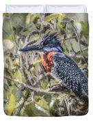 Giant Kingfisher Duvet Cover