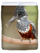 Giant Kingfisher Megaceryle Maxima Duvet Cover
