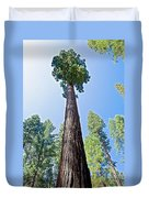 Giant Sequoia In Mariposa Grove In Yosemite National Park-california  Duvet Cover