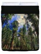 giant sequoias sequoiadendron gigantium yosemite NP Duvet Cover