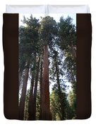 Giant Sequoias - Yosemite Park Duvet Cover