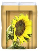 Giant Sunflower With Buds Duvet Cover