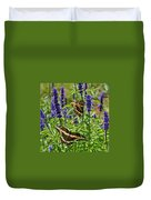 Giant Swallowtail Butterfly Couple Duvet Cover