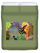 Giant Swallowtail Butterfly Photo-painting Duvet Cover