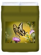 Giant Swallowtail On Thistle Duvet Cover