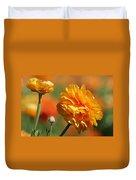 Giant Tecolote Ranunculus - Carlsbad Flower Fields Ca Duvet Cover