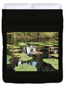 Giant Water Lilies Duvet Cover