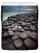Giant's Causeway Pillars Duvet Cover