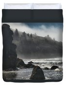 Giants In The Fog Duvet Cover by Adam Jewell