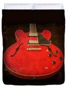 Gibson Es-335 Electric Guitar Body Duvet Cover
