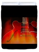 Gibson Es-335 On Fire Duvet Cover