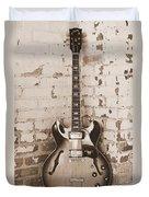 Gibson In Sepia Duvet Cover