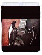 Gibson Sg Standard Red Grunge Duvet Cover