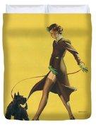 Gil Elvgren's Pin-up Girl Duvet Cover