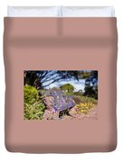 Gilcrease House Garden Flower Duvet Cover by Tamyra Ayles