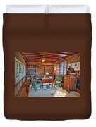 Gillette Castle Library Duvet Cover