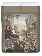 Gin Lane, Illustration From Hogarth Duvet Cover