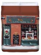 Gingerbread Bakery At Fox Creek Duvet Cover
