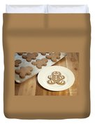 Gingerbread Cookies Duvet Cover by Juli Scalzi