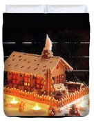 Gingerbread House, Traditional Duvet Cover